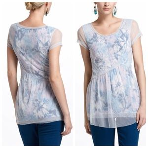 Anthropologie Meadow Rue The Layered Dahlia Top M